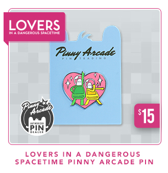 Lovers in a Dangeroud Spacetime Pinny Arcade Pin