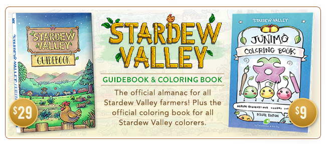 Stardew Valley Guidebook and Junimo Coloring Book