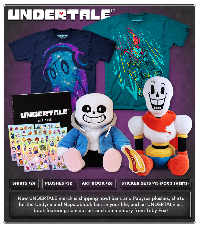 New Undertale Products